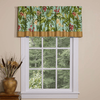 Paradise in Bloom Tailored Valance with Band - OVERSTOCK