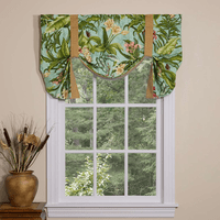 Paradise in Bloom Tie Up Curtain - OVERSTOCK
