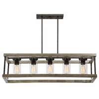 Paradise Outdoor 5-Light Rectangular Chandelier