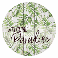 Paradise Palms Barrel Top Sign