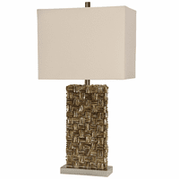 Parquet Capiz Shell Table Lamp