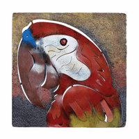 Parrot Frame Metal Wall Art
