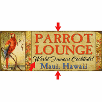 Parrot Lounge Personalized Signs