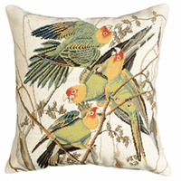 Parrots Square Pillow