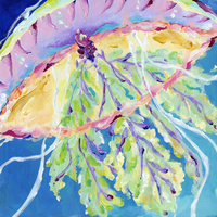 Pastel Jellyfish Canvas Art