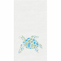 Patchy Turtle Waffle Weave Towels - Set of 6