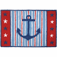 Patriotic Anchor Indoor/Outdoor Rug