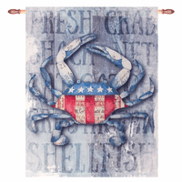 Patriotic Crab Wall Hanging