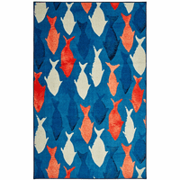 Patriotic Fish on Blue Rug Collection