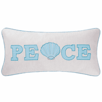 Peace & Shells Embroidered Pillow