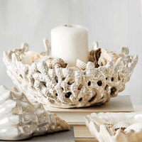 Pearlized Coral Decorative Bowl