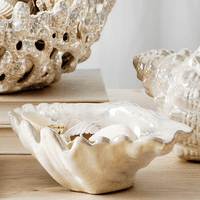 Pearlized Oyster Figurine/Planter - CLEARANCE