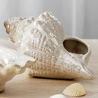 Pearlized Textured Seashell Figurine/Planter
