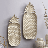 Pearly Pineapple Trays - Set of 2