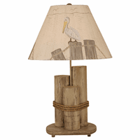 Pelican Dock Pilings Table Lamp