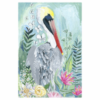 Pelican Flowers Canvas Art