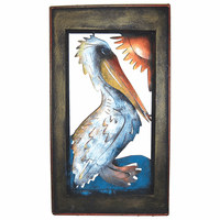 Pelican Frame Metal Wall Art