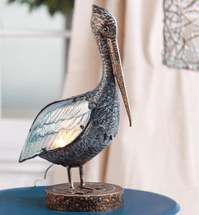Pelican Glass Lamp