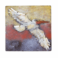 Pelican in Flight Metal Wall Art