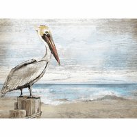 Pelican Pier Wood Wall Art