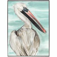 Pelican Profile I - Framed Canvas Art