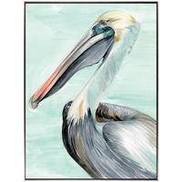 Pelican Profile II - Framed Canvas Art
