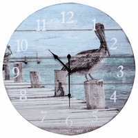 Pelican Wood Wall Clock - Large