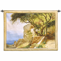 Pergola in Amalfi Large Wall Tapestry