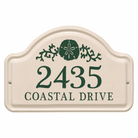 Personalized Sand Dollar Arched Address Plaque - Green