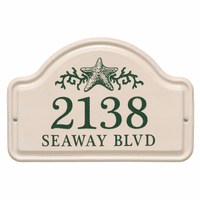 Personalized Starfish Arched Address Plaque - Green