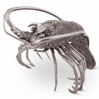 Pewter Lobster Statue