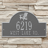 Pewter Silver Personalized Adirondack Arch Plaque