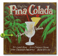 Pina Colada Personalized Sign - 28 x 28
