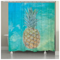 Pineapple Waves Shower Curtain