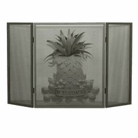Pineapple Greetings Fireplace Screen