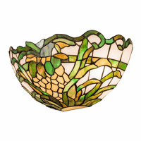 Pineapple Stained Glass Wall Sconce