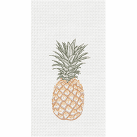 Pineapple Waffle Weave Towels - Set of 6