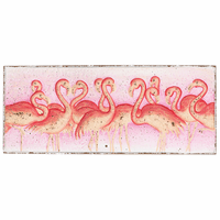 Pink Crowd Flamingo Wall Art