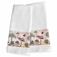 Pink Flamingo Hand Towels - Set of 2