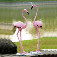Pink Flamingo Pair