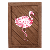 Pink Palms Flamingo Layered Wall Art