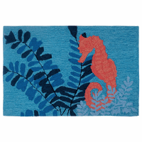 Serene Seahorse Accent Rug
