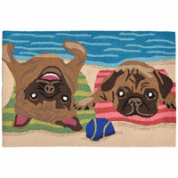 Playa de Pug Indoor/Outdoor Multi Rug Collection