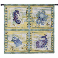 Playful Sea Wall Tapestry