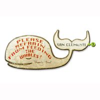 Please Refrain from Feeding the Whales Personalized Sign - 15 x 30