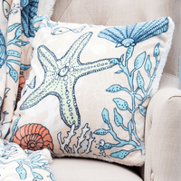 Plush Coral Reef pillow