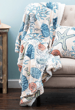 Plush Coral Reef Throw