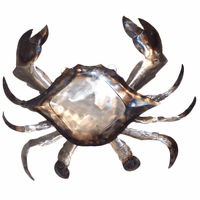Polished Metal Crab Wall Art