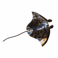 Polished Metal Manta Ray - Large