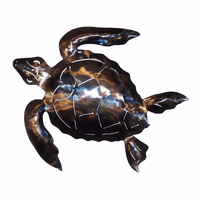 Polished Metal Sea Turtle - Medium